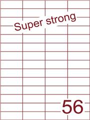 Etiket 52,5x21,2 (56) super strong ds500vel A4 (H56-4)