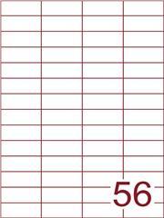 Etiket 52,5x21,2 (56) wit ds1000vel A4 (H56-4)
