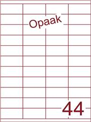 Etiket opaak wit 52,5x25,4 (44) ds200vel A4 (HG44-4)