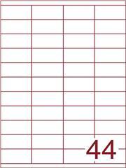 Etiket 52,5x25,4 (44) wit ds1000vel A4 (HG44-4)