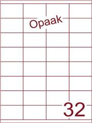 Etiket opaak wit 52,5x35 (32) ds200vel A4 (HG32-4)