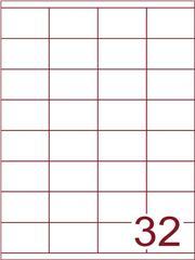 Etiket 52,5x35 (32) wit ds1000vel (HG32-4)