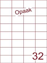 Etiket opaak wit 52,5x37,1 (32) ds200vel A4 (H32-4)