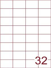 Etiket 52,5x37,1 (32) wit ds1000vel A4 (H32-4)