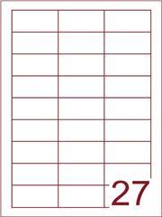 Etiket 60x30 (27) wit ds600vel A4 (bliknr 16215)