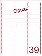 Etiket opaak wit 63,5x21,2 (39) ds200vel A4 (A39-3)