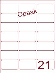 Etiket opaak wit 63,5x38,1 (21) ds200vel A4 (A21-3)