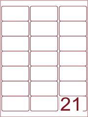 Etiket 63,5x38,1 (21) wit ds1000vel (A21-3)