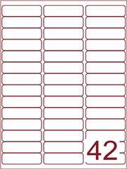 Etiket 65x20 (42) wit ds1000vel A4 (A42-3)