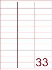 Etiket 70x25,4 (33) wit ds1000vel (HG33-3)