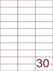 Etiket 70x29,7 (30) wit ds1000vel (H30-3)