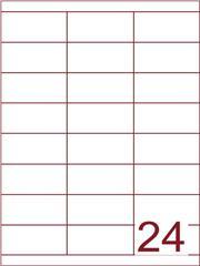 Etiket 70x33,9 (24) wit ds1000vel (HG24-3B)