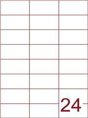 Etiket 70x37,1 (24) wit ds1000vel (H24-3)