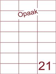 Etiket 70x42,4 (21) opaak wit ds200vel A4 (H21-3)