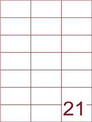 Etiket 70x42,4 (21) wit ds1000vel (H21-3)