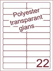 Etiket 94x25,4 (22) polyester Transparant glans ds100vel A4 (POA22-2)