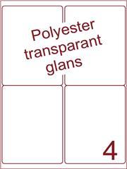 Etiket 99,1x139 (4) polyester Transparant glans ds100vel A4 (POA4-2)