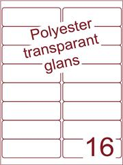 Etiket polyester Transparant glans 99,1x33,9 (16) ds100vel A4 (PO16-2)