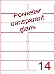 Etiket polyester Transparant glans 99,1x38,1 (14) ds100vel A4 (PO14-2)