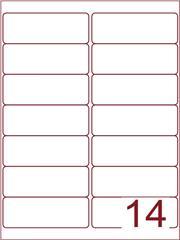 Etiket 99,1x38,1 (14) wit ds1000vel (A14-2)