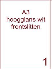 Etiket A3 wit papier hoogglans 287x420 ds 400vel 2 frontslitlijnen op 5 mm van de lange zijde (A3/1-1 FS)