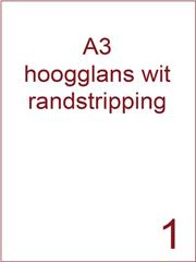 Etiket A3 wit papier hoogglans 297x420 ds 400vel randstripping 2 mm (A3/1-1 RS)
