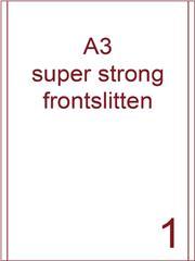 Etiket A3 wit papier superstrong 287x420 ds 450vel 2 frontslitlijnen op 5 mm van de lange zijde (A3/1-1 FS)