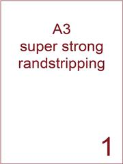 Etiket A3 wit papier superstrong 297x420 ds 450vel randstripping 2 mm (A3/1-1 RS)
