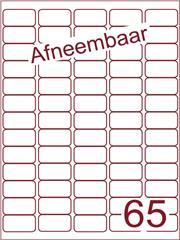 Etiket A4 afneembaar wit 38,1x21,2mm (65) ds600vel A4 (A65-5)