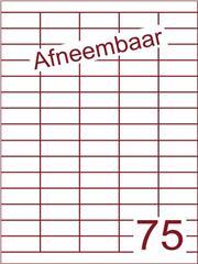 Etiket A4 afneembaar wit 40x18mm (75) ds600vel A4 (HG75-5)