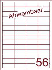 Etiket afneembaar wit 48x20mm (56) ds600vel A4 (HG56-4)