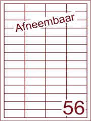 Etiket A4 afneembaar wit 48x20mm (56) ds600vel A4 (HG56-4)