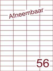 Etiket afneembaar wit 52,5x21,2mm (56) ds600vel A4 (H56-4)