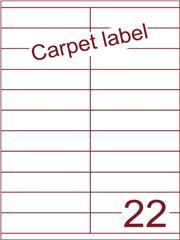 Etiket A4 carpetlabel 105x25,4 (22) ds 1000vel (HG22-2)