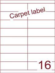 Etiket carpetlabel wit 105x33,9 (16) ds1000vel A4 (HG16-2B)