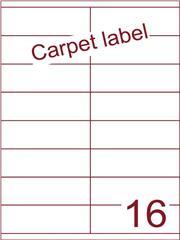 Etiket carpetlabel wit 105x35 (16) ds1000vel A4 (HG16-2S)