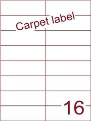 Etiket carpetlabel wit 105x37,1 (16) ds1000vel A4 (H16-2)