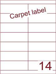 Etiket carpetlabel wit 105x38,1 (14) ds1000vel A4 (HG14-2S)