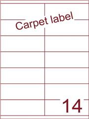 Etiket A4 carpetlabel 105x40 (14) ds 1000vel (HG14-2)