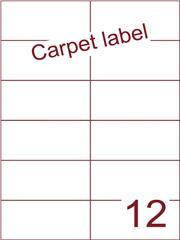 Etiket carpetlabel wit 105x49,5 (12) ds1000vel A4 (H12-2)