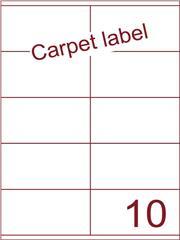 Etiket carpetlabel wit 105x56,8 (10) ds1000vel A4 (HG10-2)