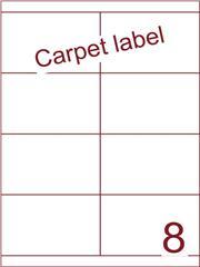 Etiket carpetlabel wit 105x67,7 (8) ds1000vel A4 (HG8-2B)