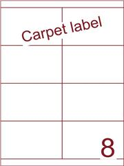 Etiket A4 carpetlabel 105x67,7 (8) ds 1000vel (HG8-2B)