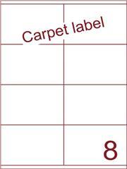 Etiket carpetlabel wit 105x71 (8) ds1000vel A4 (HG8-2S)
