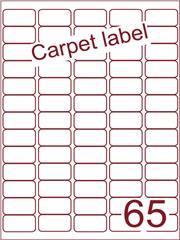 Etiket carpetlabel wit 38,1x21,2 (65) ds1000vel A4 (A65-5)