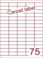 Etiket carpetlabel wit 40x18 (75) ds1000vel A4 (HG75-5)