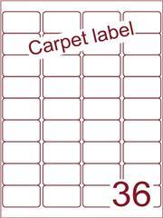 Etiket carpetlabel wit 48,3x29,7 (36) ds1000vel A4 (A36-4)