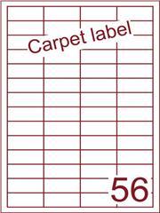 Etiket carpetlabel wit 48x20 (56) ds1000vel A4 (HG56-4)