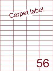 Etiket carpetlabel wit 52,5x21,2 (56) ds1000vel A4 (H56-4)