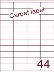 Etiket carpetlabel wit 52,5x25,4 (44) ds1000vel A4 (HG44-4)